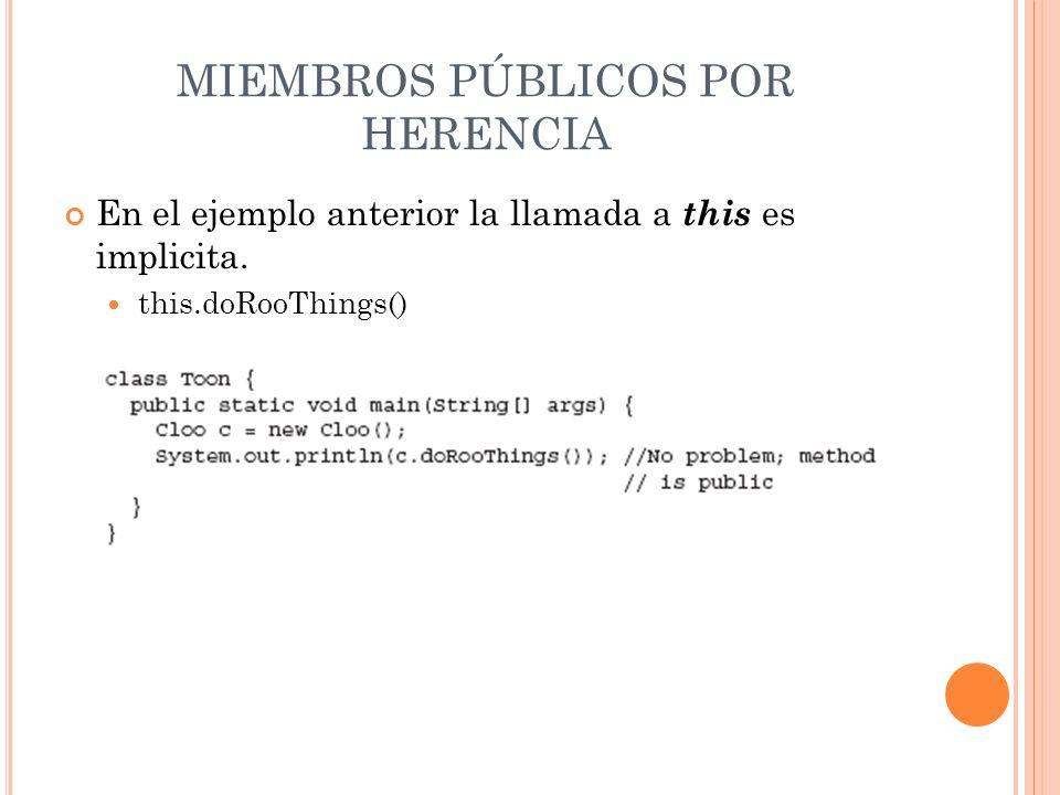 MIEMBROS PÚBLICOS POR HERENCIA