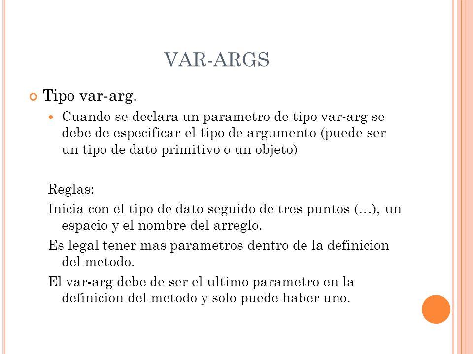 VAR-ARGS Tipo var-arg.