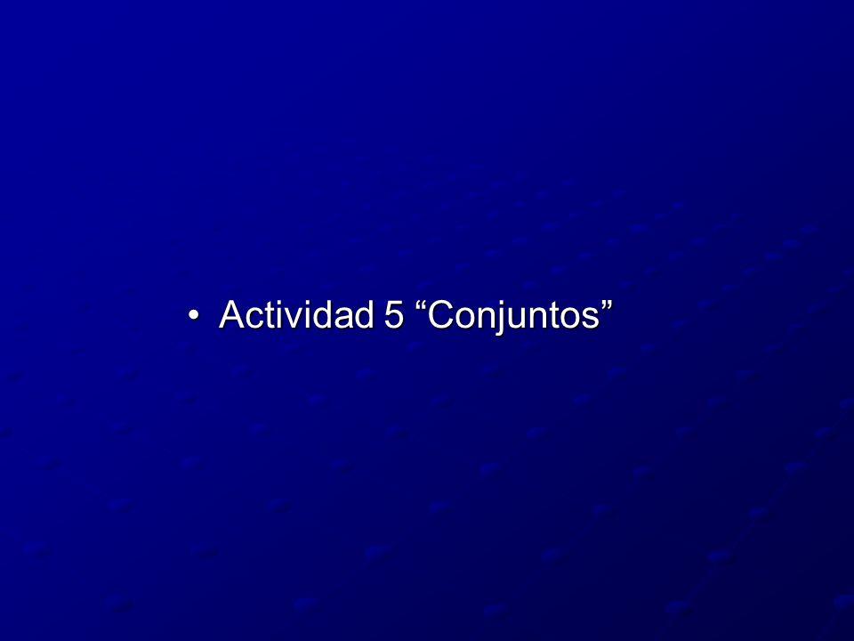 Actividad 5 Conjuntos