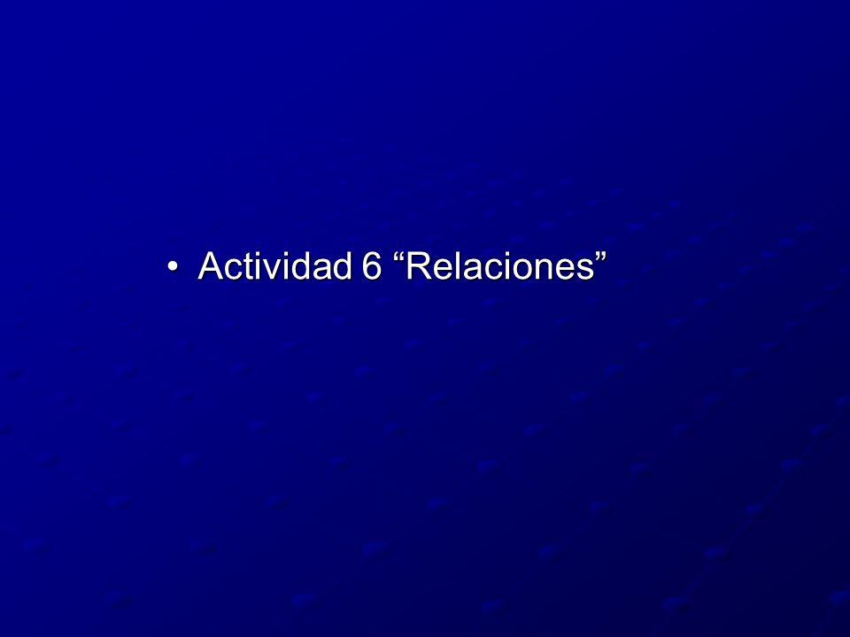 Actividad 6 Relaciones