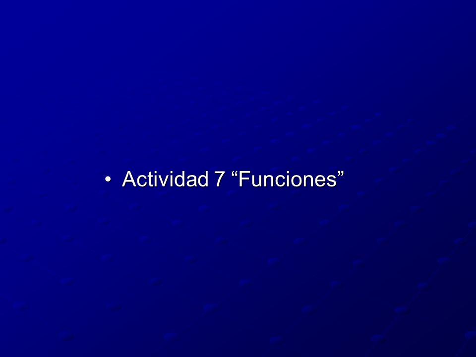 Actividad 7 Funciones