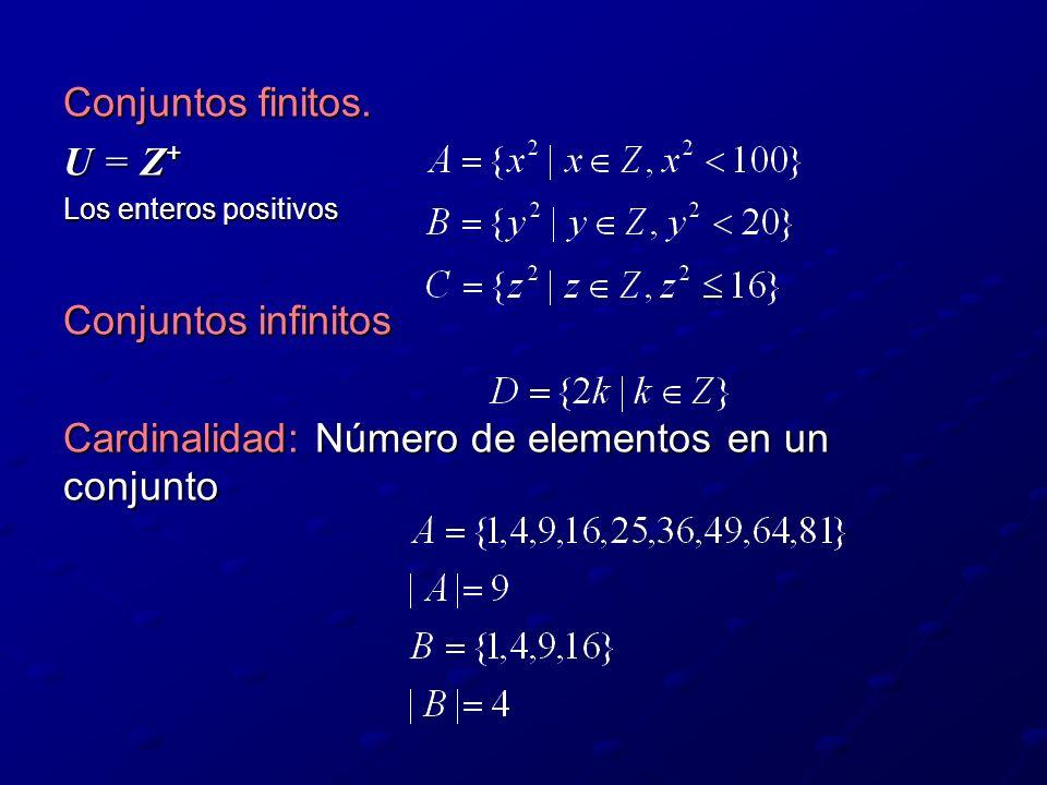 Cardinalidad: Número de elementos en un conjunto