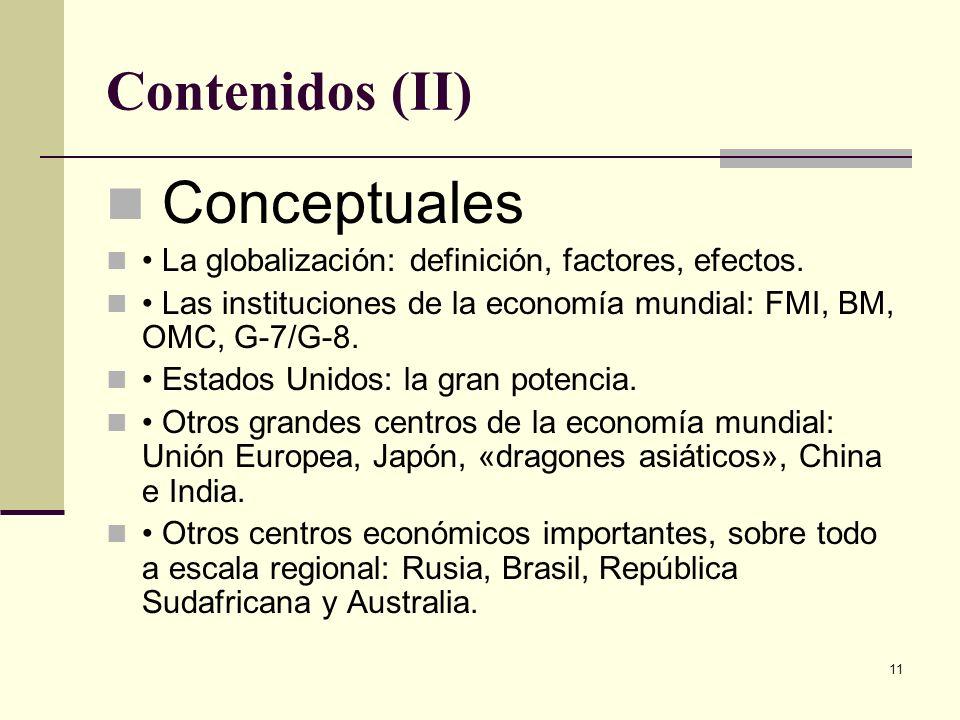 Conceptuales Contenidos (II)