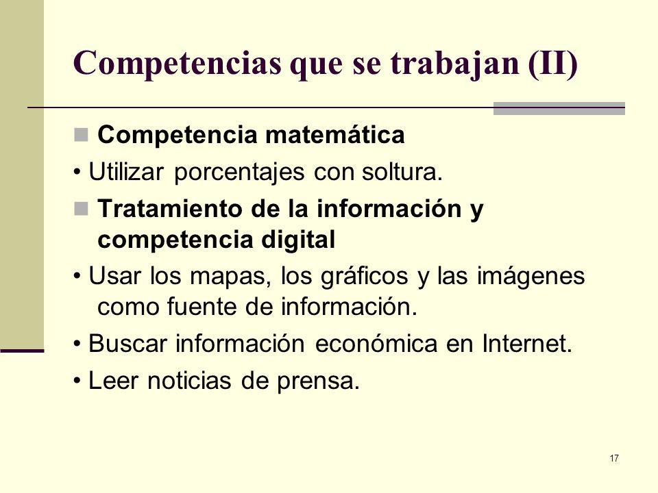 Competencias que se trabajan (II)
