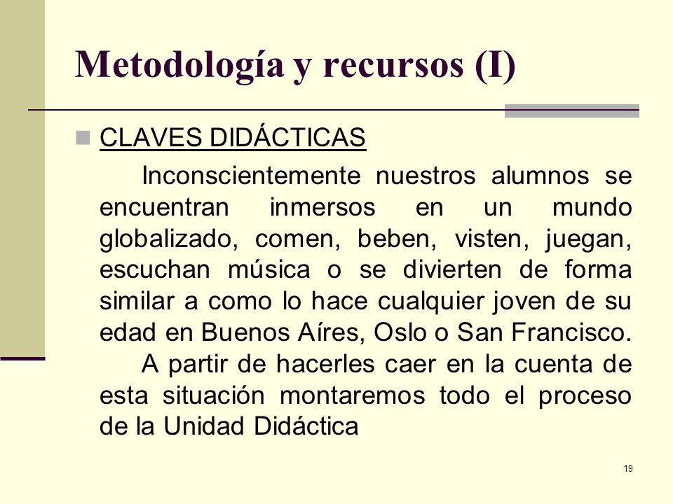 Metodología y recursos (I)