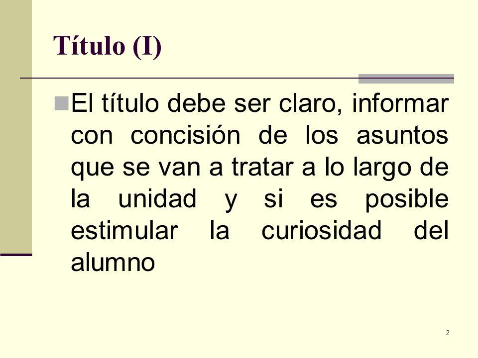 Título (I)