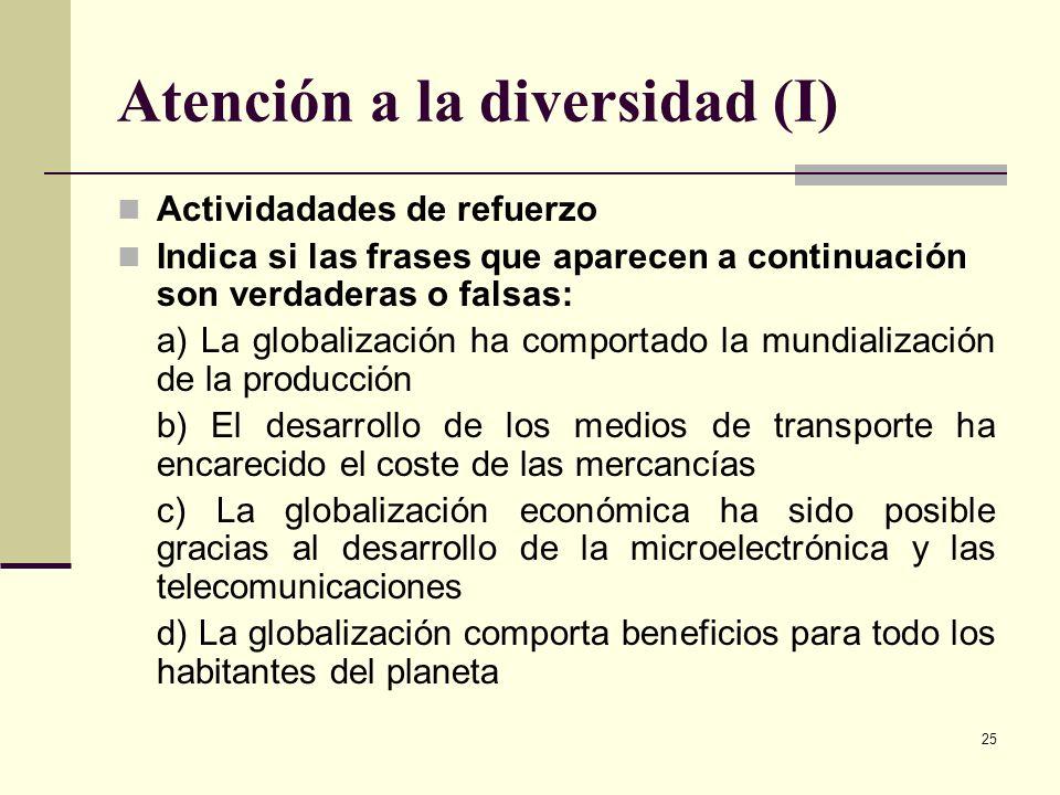 Atención a la diversidad (I)
