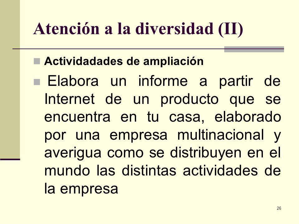 Atención a la diversidad (II)