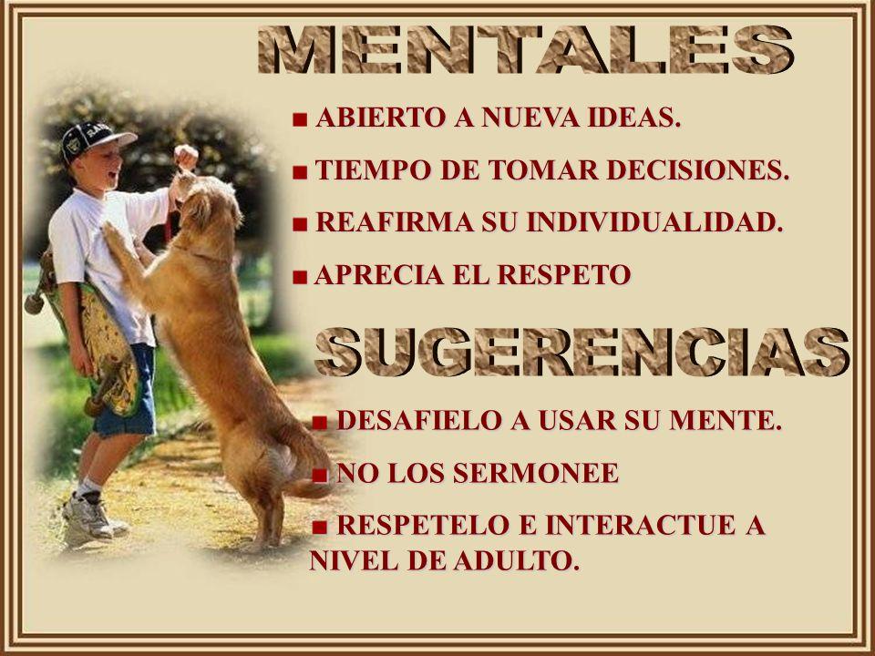 MENTALES SUGERENCIAS ABIERTO A NUEVA IDEAS.