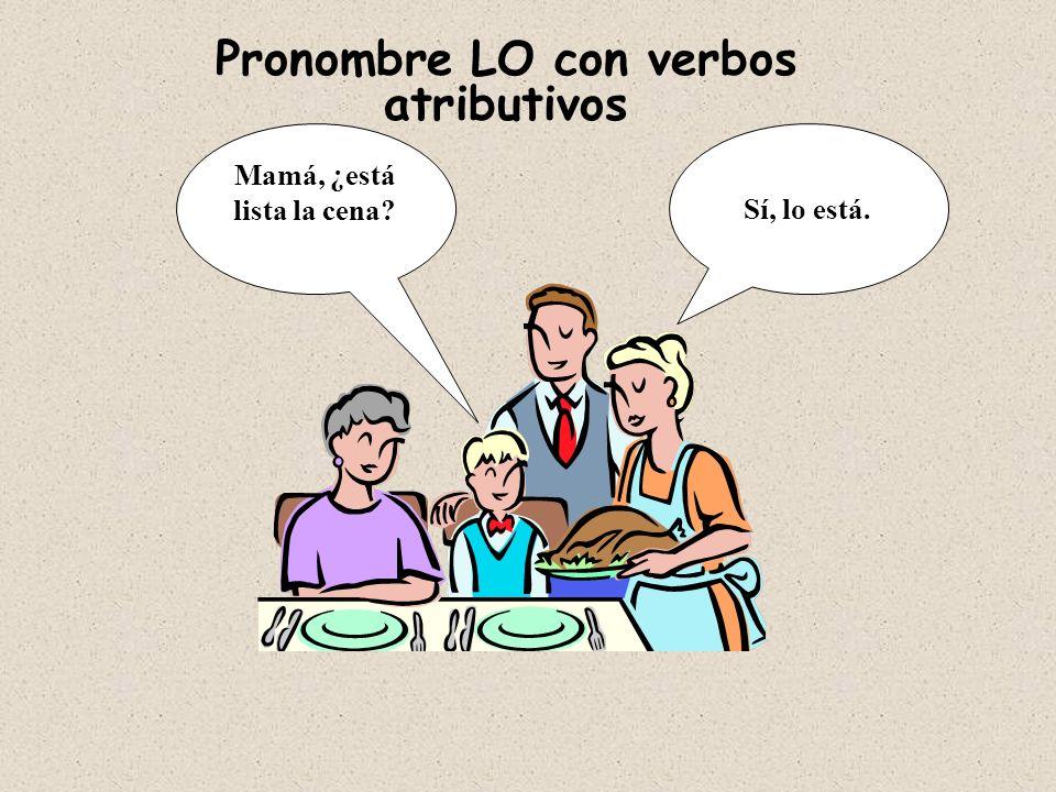Pronombre LO con verbos atributivos