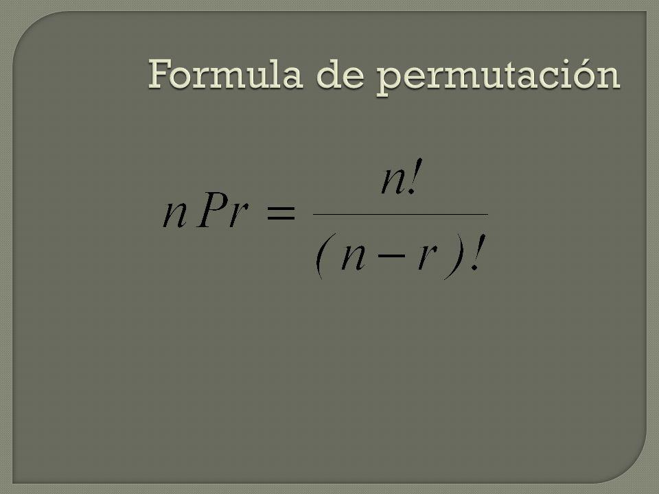 Formula de permutación