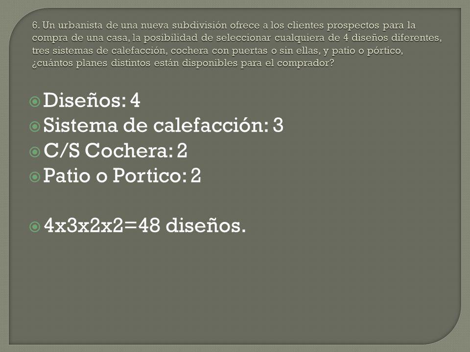 Sistema de calefacción: 3 C/S Cochera: 2 Patio o Portico: 2