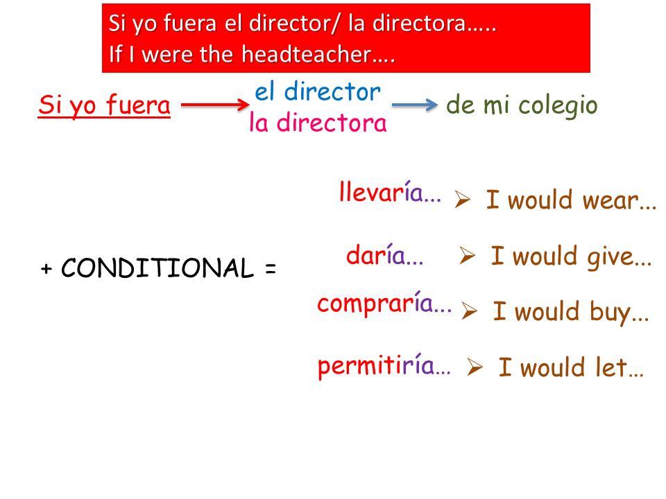 Si yo fuera el director/ la directora…..