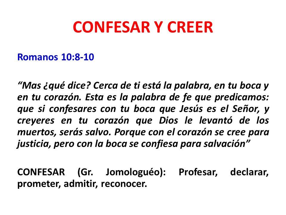 CONFESAR Y CREER