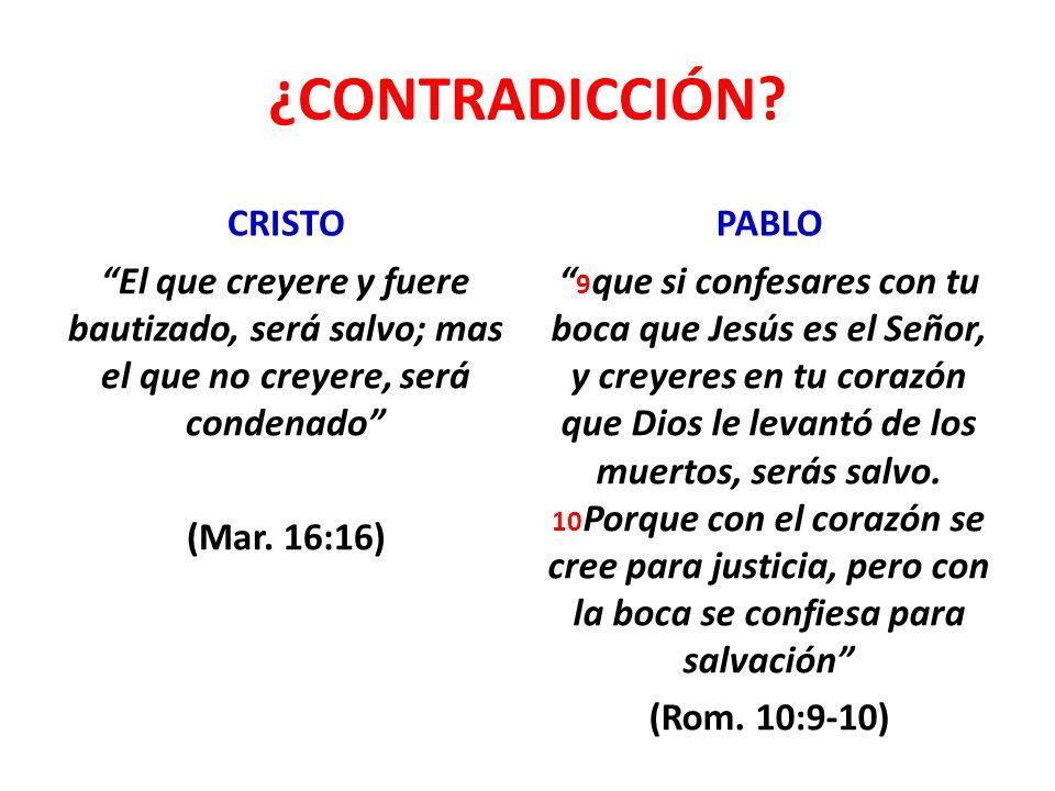 ¿CONTRADICCIÓN CRISTO PABLO