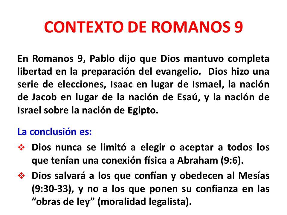 CONTEXTO DE ROMANOS 9