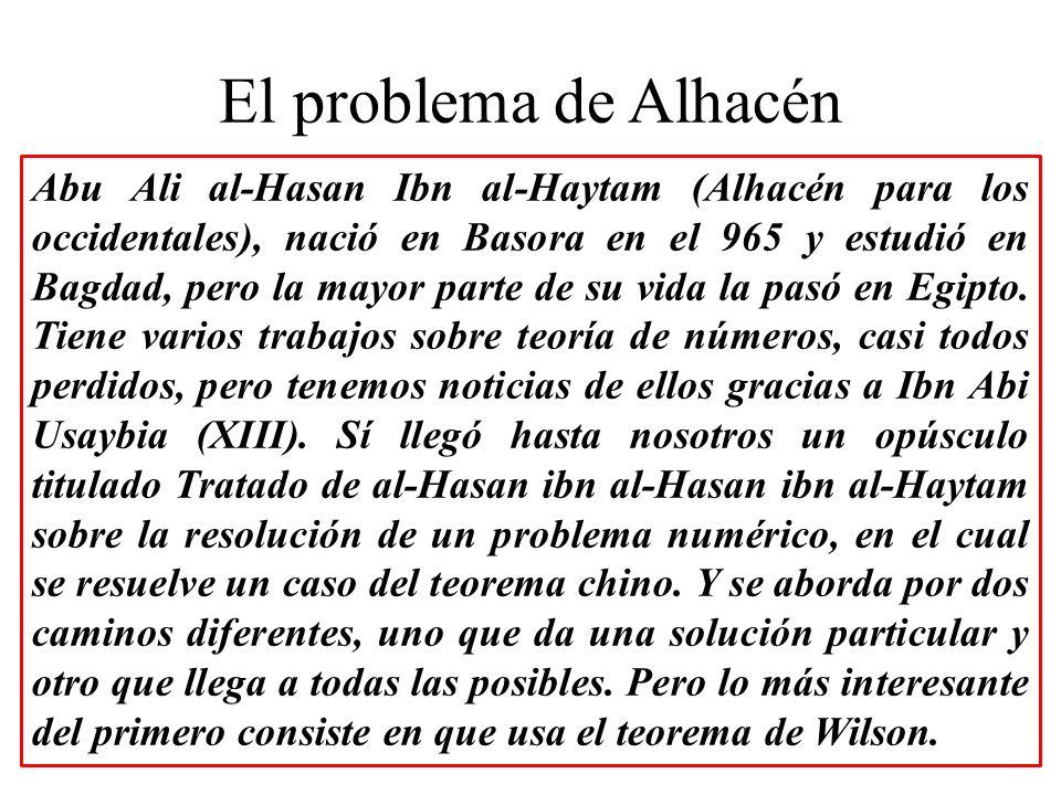 El problema de Alhacén