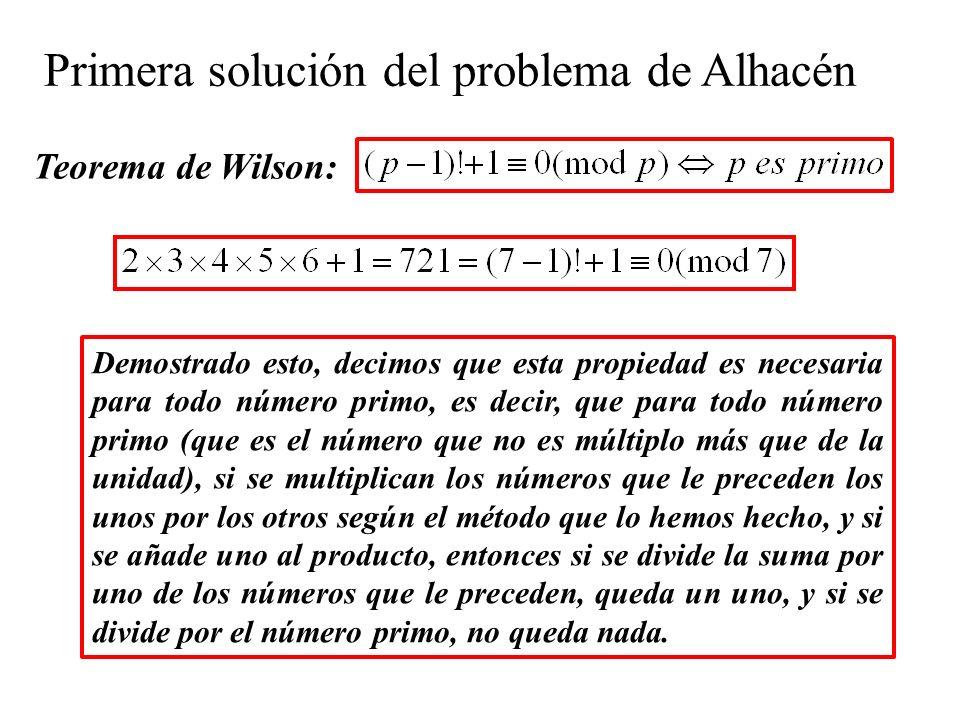 Primera solución del problema de Alhacén