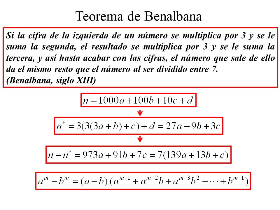 Teorema de Benalbana