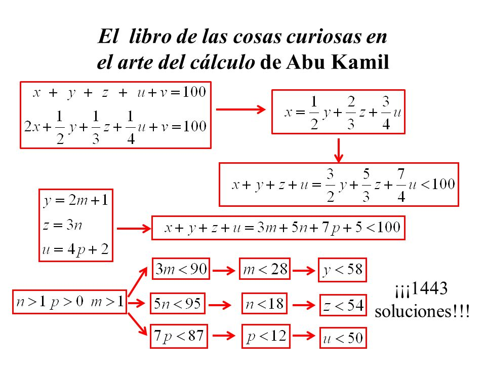 El libro de las cosas curiosas en el arte del cálculo de Abu Kamil