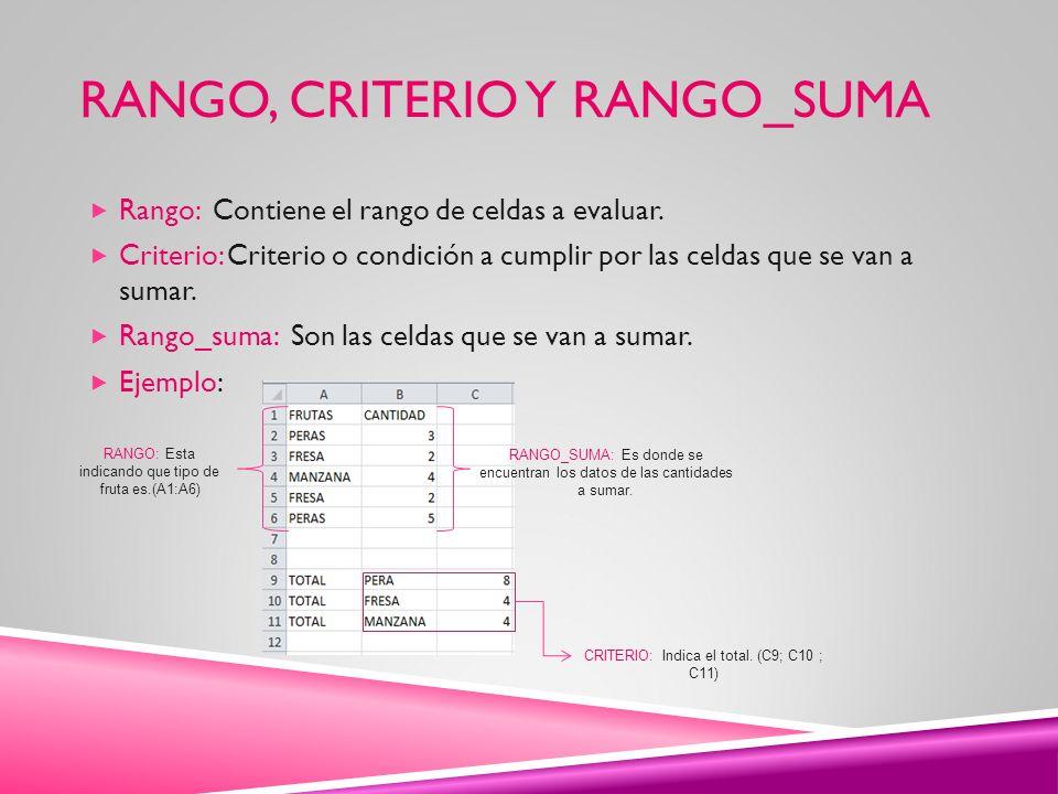 Rango, criterio y rango_suma