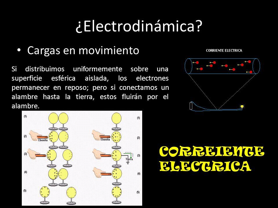 ¿Electrodinámica Cargas en movimiento CORREIENTE ELECTRICA