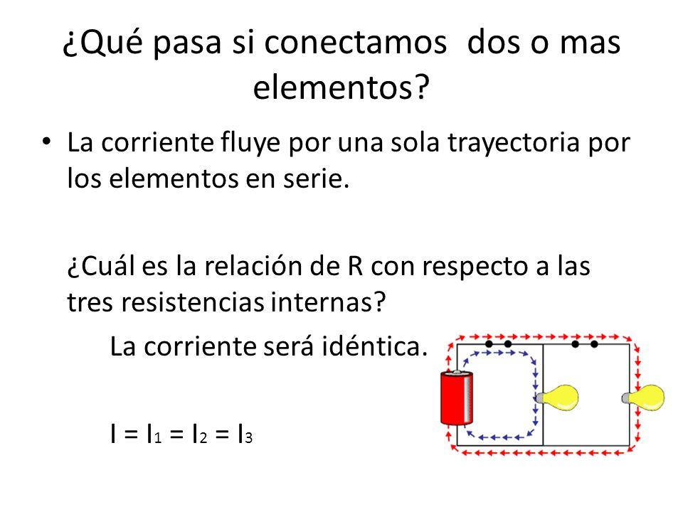 ¿Qué pasa si conectamos dos o mas elementos
