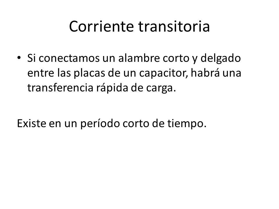 Corriente transitoria