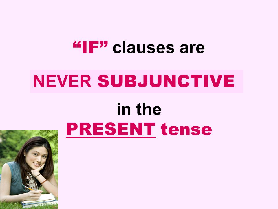 IF clauses are in the PRESENT tense