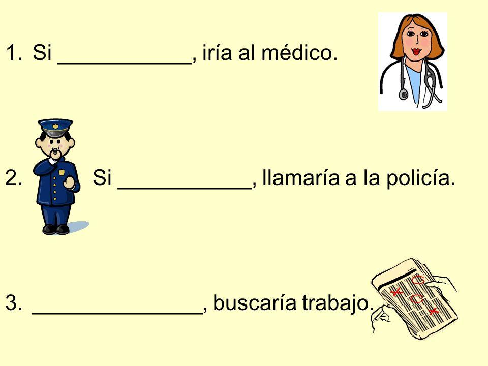 Si ___________, iría al médico.