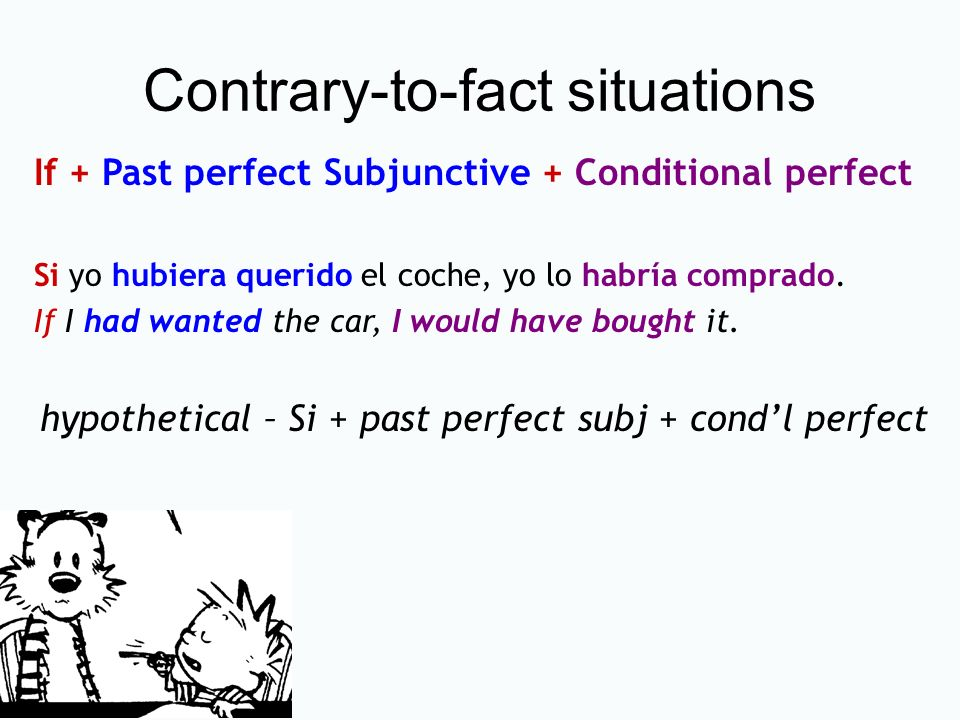 Contrary-to-fact situations