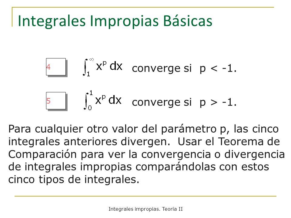 Integrales Impropias Básicas
