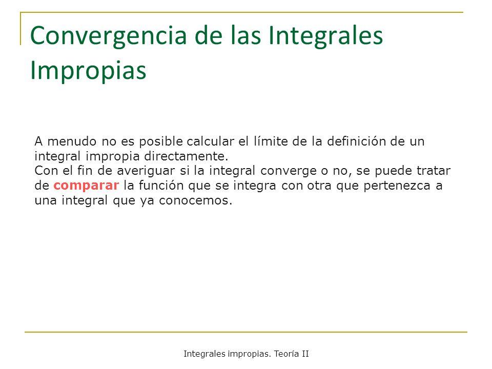 Convergencia de las Integrales Impropias
