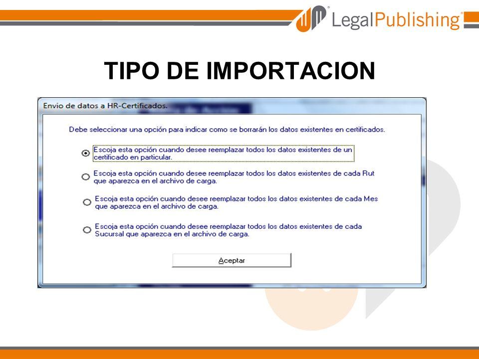 TIPO DE IMPORTACION