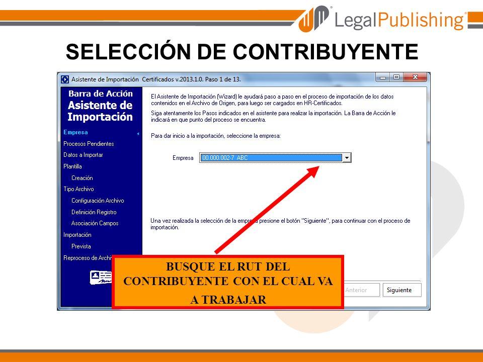SELECCIÓN DE CONTRIBUYENTE