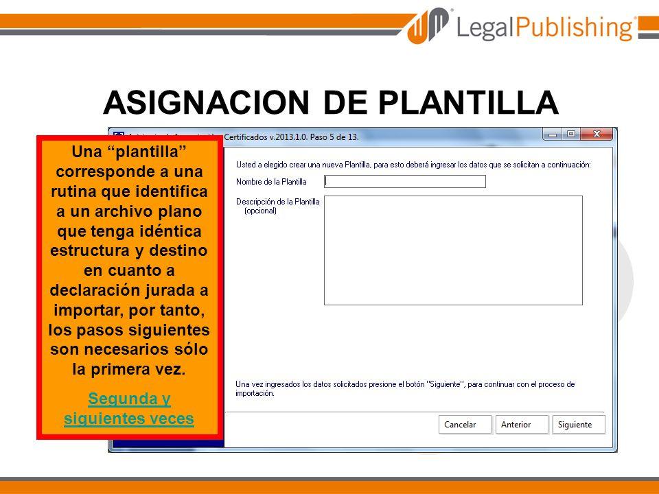 ASIGNACION DE PLANTILLA