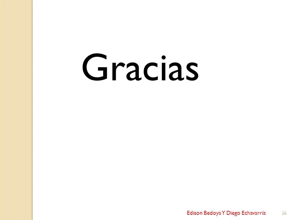 Gracias Edison Bedoya Y Diego Echavarría