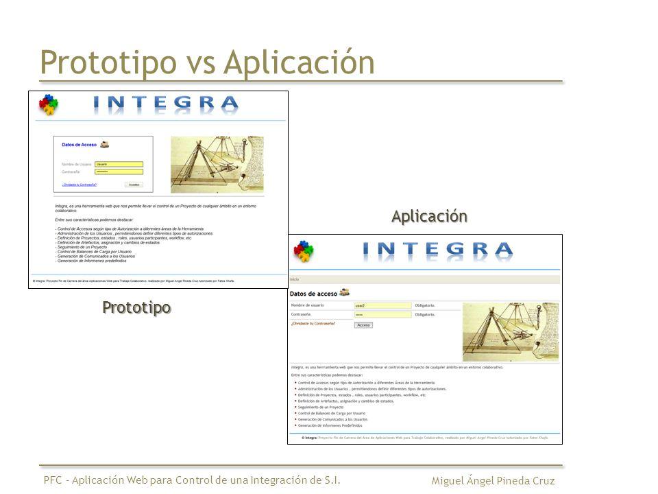 Prototipo vs Aplicación