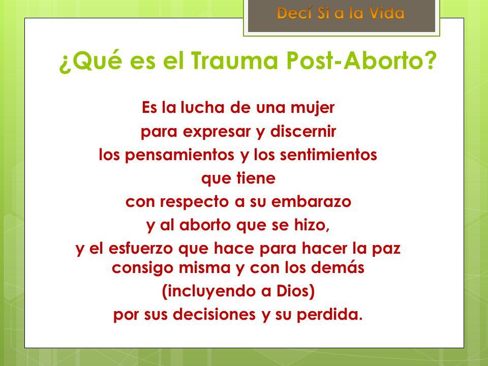 ¿Qué es el Trauma Post-Aborto
