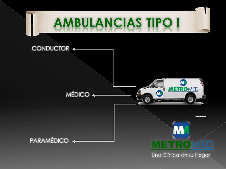 Ambulancias tipo i METROMED CONDUCTOR MÉDICO PARAMÉDICO