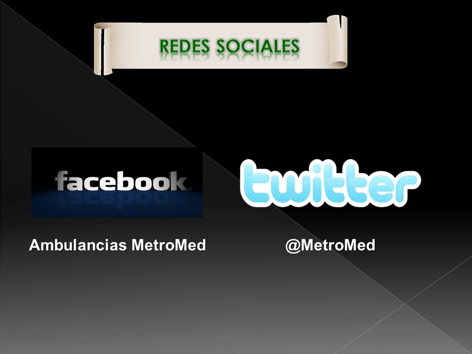 Redes Sociales Ambulancias MetroMed @MetroMed