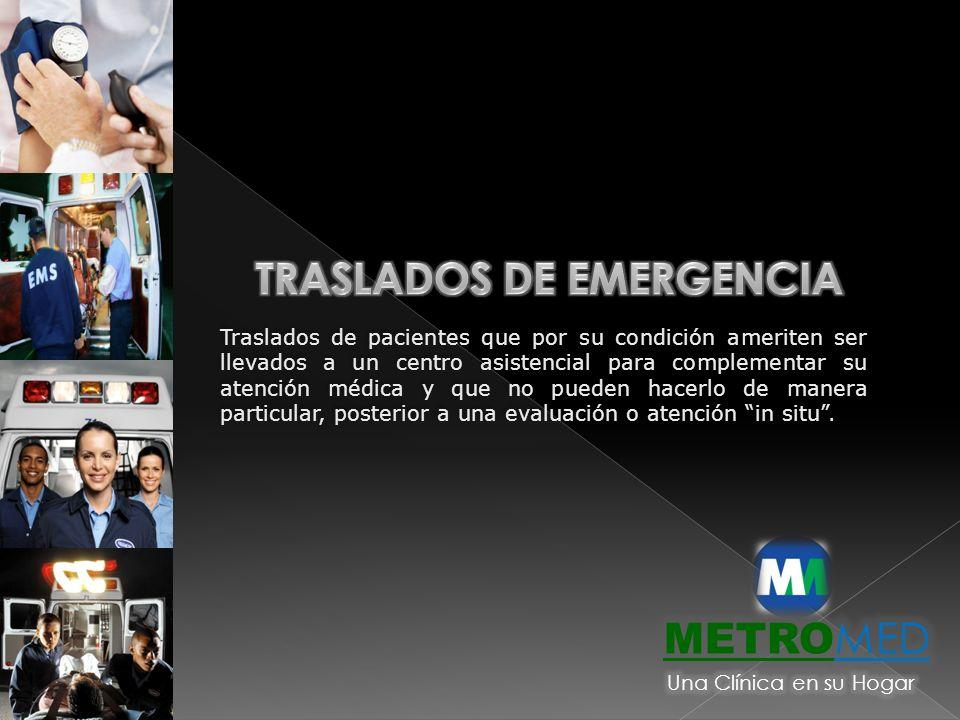 TRASLADOS DE EMERGENCIA