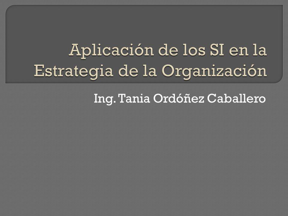 Aplicación de los SI en la Estrategia de la Organización