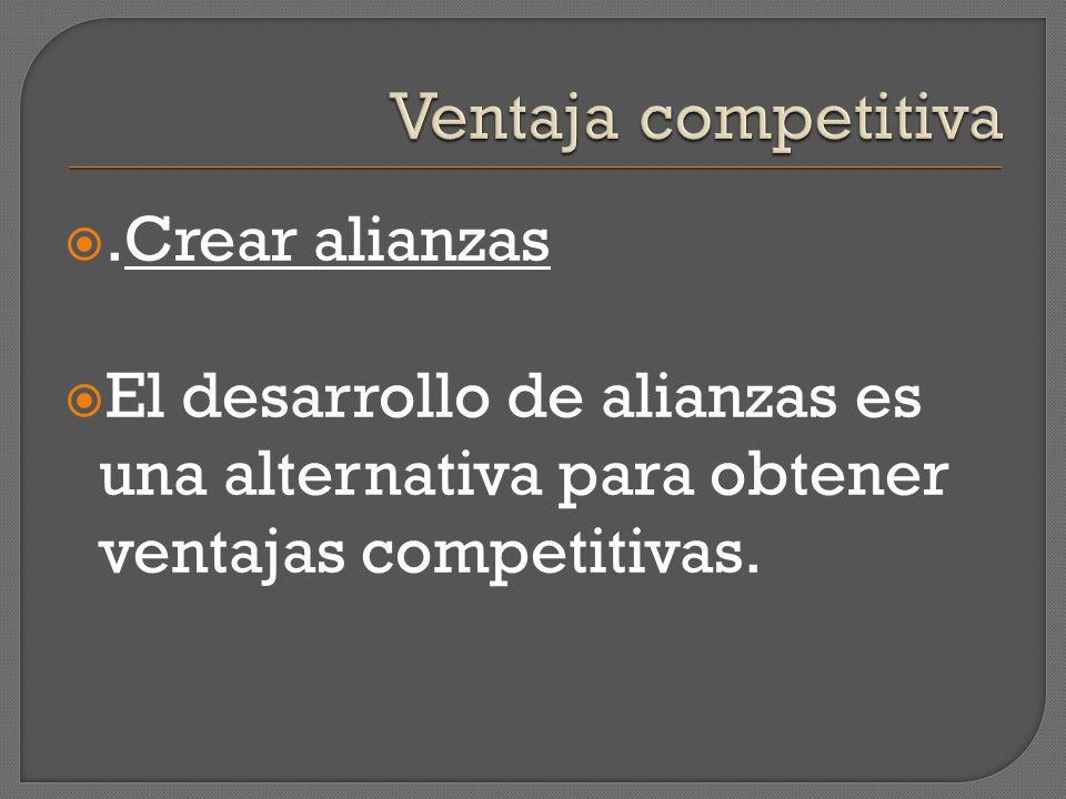Ventaja competitiva .Crear alianzas