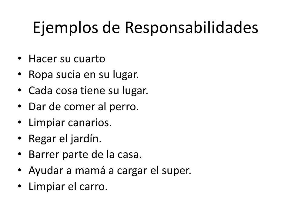 Ejemplos de Responsabilidades