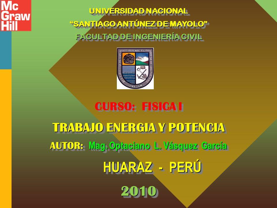 2010 TRABAJO ENERGIA Y POTENCIA CURSO: FISICA I