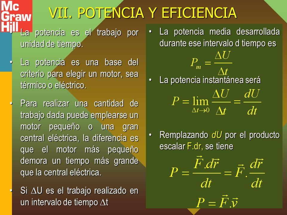 VII. POTENCIA Y EFICIENCIA