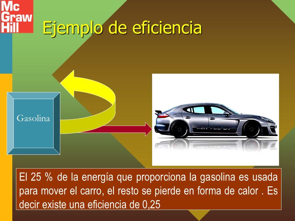 Ejemplo de eficiencia Gasolina.