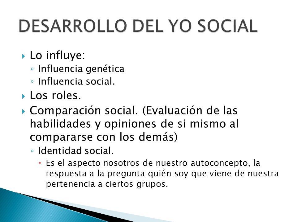 DESARROLLO DEL YO SOCIAL