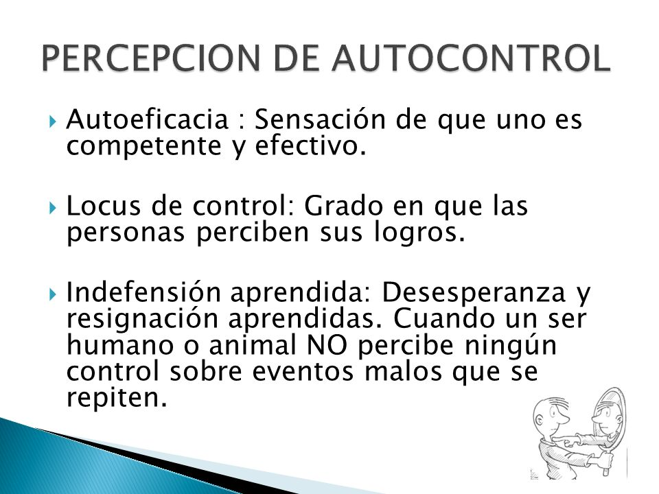 PERCEPCION DE AUTOCONTROL